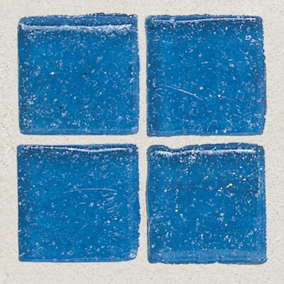 "Daltile Sonterra Collection 1"" x 1"" Opalized Mosaic Tile in Crystal Blue"