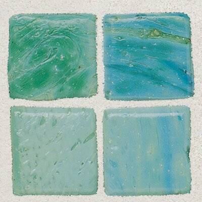 "Daltile Sonterra Collection 12"" x 12"" Opalized Mosaic Tile in Verde"