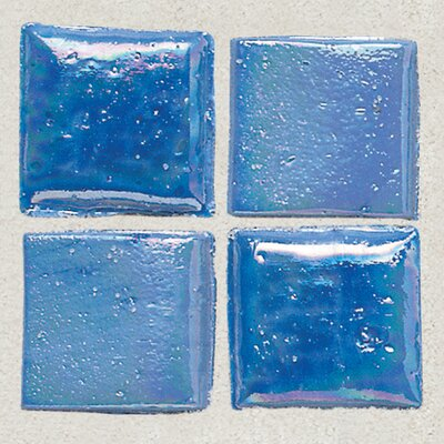 "Daltile Sonterra Collection 1"" x 1"" Iridescent Mosaic Tile in Medium Blue"