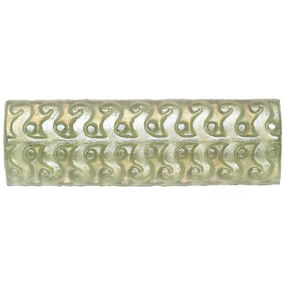 "Daltile Cristallo Glass 8"" x 3"" Perennial Decorative Accent in Peridot"