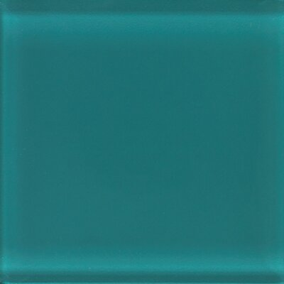 "Daltile Glass Reflections 4-1/4"" x 4-1/4"" Glossy Wall Tile in Almost Aqua"