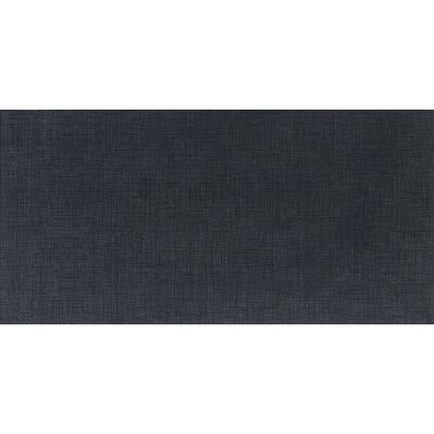 Daltile Kimona Silk 12&quot; x 24&quot; Field Tile in Panda Black