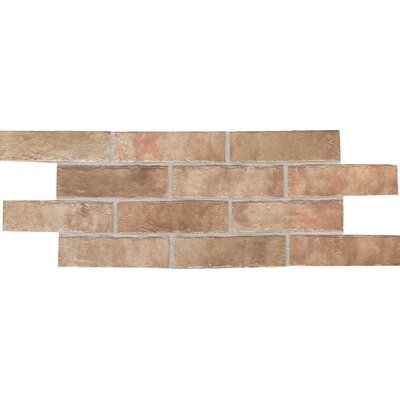 "Daltile Union Square 2-1/4"" x 8"" Brick Field Tile in Heirloom Rose"