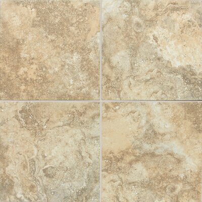 "Daltile San Michele 18"" x 18"" Cross - Cut Field Tile in Dorato"