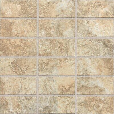 "Daltile San Michele 4"" x 2"" Cross - Cut Mosaic Tile in Dorato"