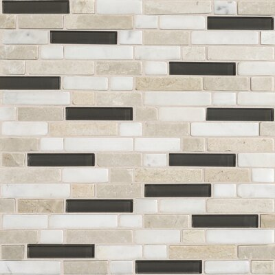 "Daltile Stone Radiance 12"" x 12"" Random Mosaic Tile Blend in Kinetic Khaki"