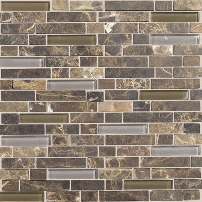 stone radiance random sized ceramic mosaic in brown wayfair