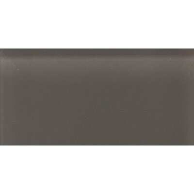 "Daltile Glass Reflections 4-1/4"" x 8-1/2"" Frosted Wall Tile in Kinetic Khaki"