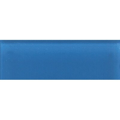"Daltile Glass Reflections 4-1/4"" x 12-3/4"" Frosted Wall Tile in Ultimate Blue"