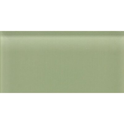 "Daltile Glass Reflections 8-1/2"" x 17"" Frosted Wall Tile in Mint Jubilee"
