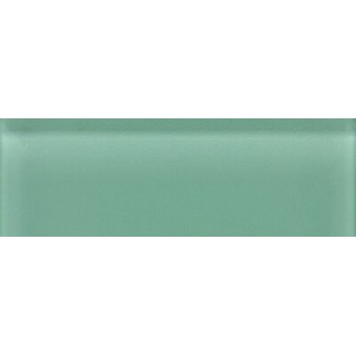 "Daltile Glass Reflections 4-1/4"" x 12-3/4"" Glossy Wall Tile in Serene Green"