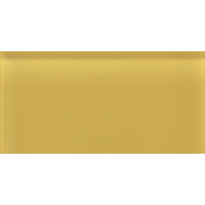 "Daltile Glass Reflections 8-1/2"" x 17"" Glossy Wall Tile in Honey Bee"