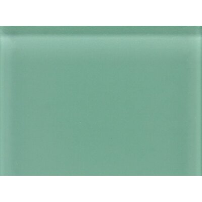 "Daltile Glass Reflections 11-1/2"" x 15-1/2"" Glossy Random Interlocking Accent in Serene Green"