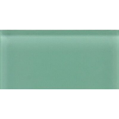 "Daltile Glass Reflections 8-1/2"" x 17"" Glossy Wall Tile in Serene Green"