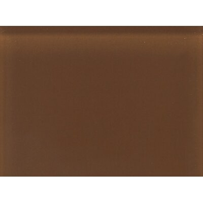 "Daltile Glass Reflections 11 1/2"" x 15 1/2"" Frosted Random Interlocking Accent in Caramel Sundae"
