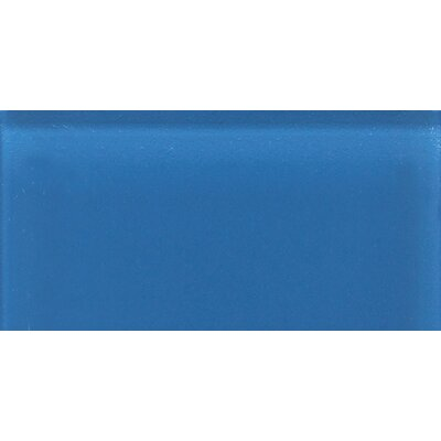 "Daltile Glass Reflections 8-1/2"" x 17"" Glossy Wall Tile in Ultimate Blue"