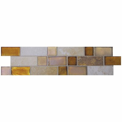 "Daltile Sandalo 12"" x 3"" Decorative Border in Smoky Topaz Blend"