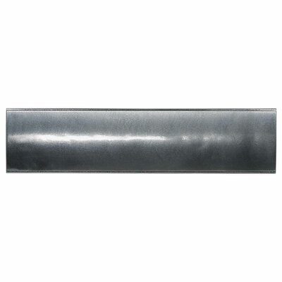 "Daltile Urban Metals 3"" x 12"" Ellipse Decorative Wall Liner in Gunmetal"