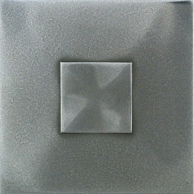 "Daltile Urban Metals 2"" x 2"" Geo Decorative Dot in Stainless"