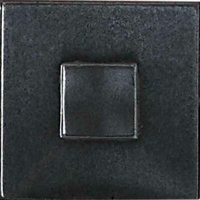 "Daltile Urban Metals 2"" x 2"" Geo Decorative Dot in Gunmetal"
