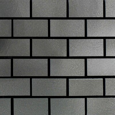"Daltile Urban Metals 2"" x 1"" Brick Joint Decorative Accent in Stainless"