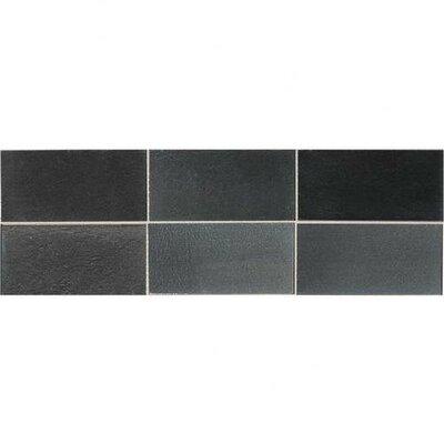 "Daltile Urban Metals 4"" x 2"" Straight Joint Mosaic in Gunmetal"