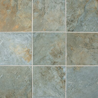 "Daltile Franciscan Slate 18"" x 18"" Unpolished Field Tile in Coastal Azul"