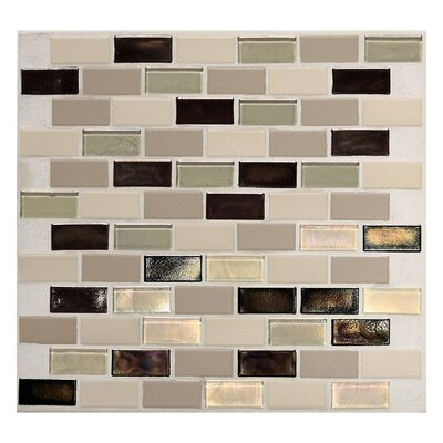 """Daltile Keystones Blends 2"""" x 1"""" Brick - Joint Porcelain with Oceanside Glass Mosaic Tile in Sunset Cove"""