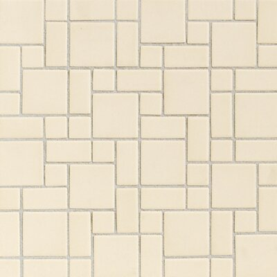 "Daltile Keystones Blends 12"" x 24"" Plain Porcelain Mosaic Tile in Almond"