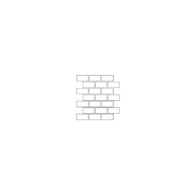 "Daltile Rittenhouse Square 4"" x 2"" Brick Joint Mosaic in White"