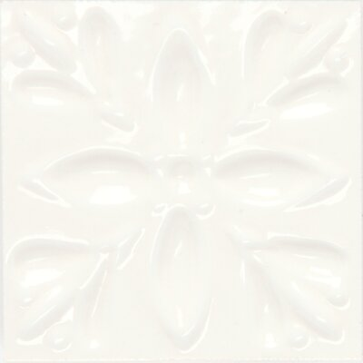 "Daltile Fashion Accents 2"" x 2"" Dots Decorative Petitfour Insert Tile in White (Set of 4)"