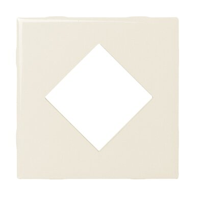 "Daltile Fashion Accents 4-1/4"" x 4-1/4"" Decorative Diamond Insert Tile in Almond"