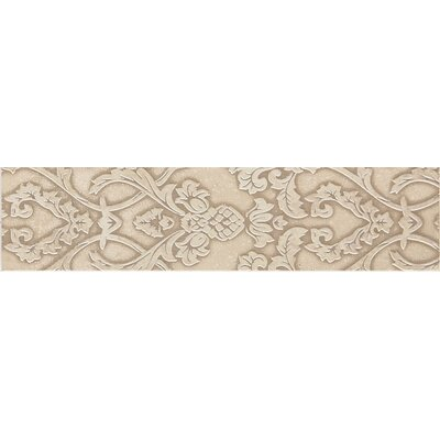 "Daltile Fashion Accents 10"" x 2"" Provincial Decorative Accent in Damask Light"