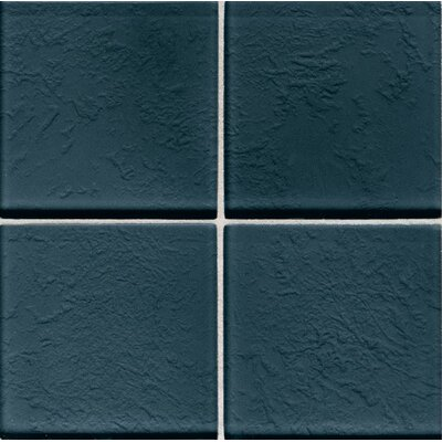 "Daltile Molten Glass 4 1/4"" x 4 1/4"" Wall Tile in Midnight"