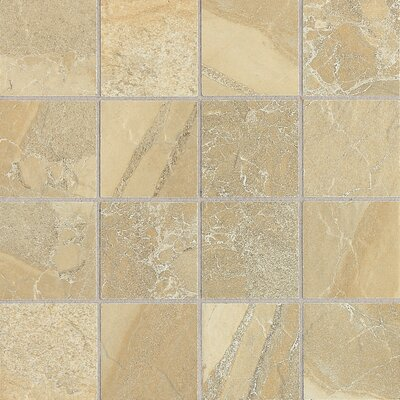 "Daltile Ayers Rock 3"" x 3"" Unpolished Glazed Porcelain Mosaic in Golden Ground"