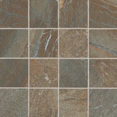 "Daltile Ayers Rock 3"" x 3"" Unpolished Glazed Porcelain Mosaic in Rustic Remnant"