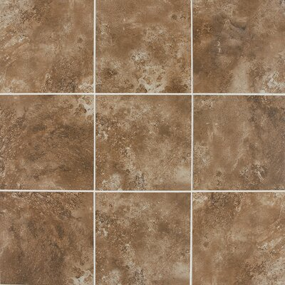 "Daltile Fantesca 18"" x 18"" Unpolished Field Tile in Merlot"