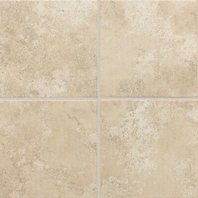 "Daltile Stratford Place 18"" x 18"" Unpolished Ceramic Floor Tile in Alabaster Sands"