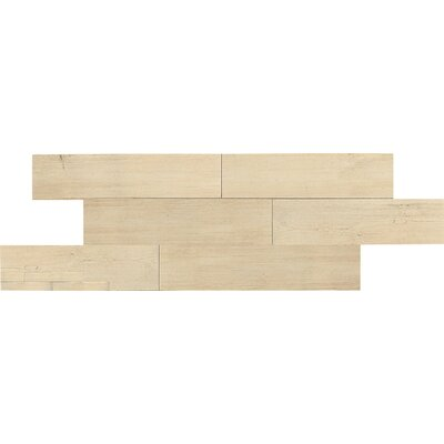 "Daltile Terrace 6"" x 36"" Unpolished Field Tile in Bianco"