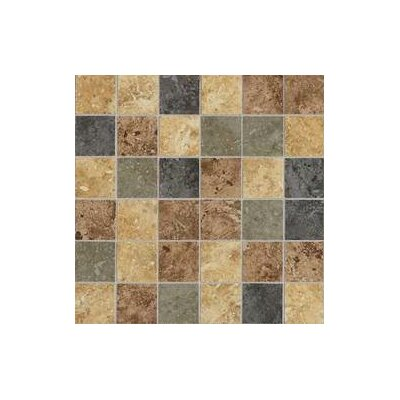 "Daltile Heathland 24"" x 12"" Unpolished Ceramic Mosaic in Sunset Blend"