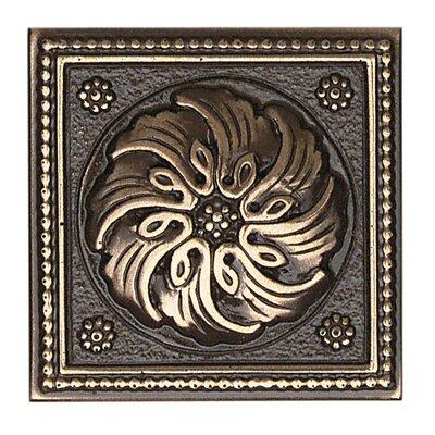 """Daltile Metal Ages 2"""" x 2"""" Celtic Glazed Decorative Tile Insert in Polished Bronze"""