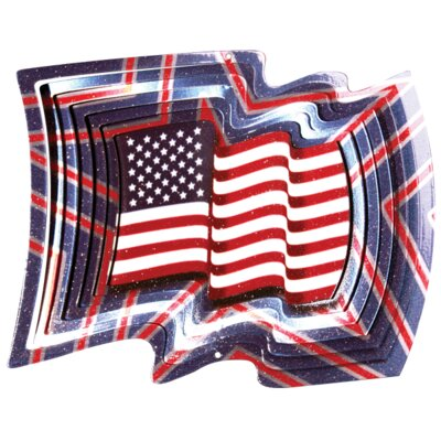 Designer USA Flag Wind Spinner