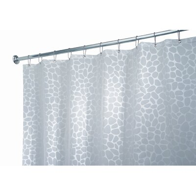 InterDesign EVA Vinyl Frost Stones Shower Curtain