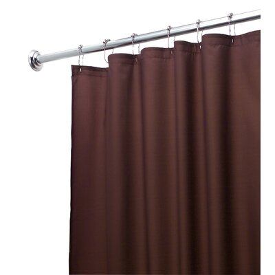 InterDesign Waterproof Shower Curtain/Liner in Chocolate