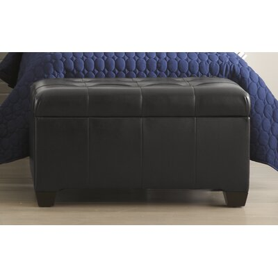 Skyline Furniture Storage Leather Ottoman