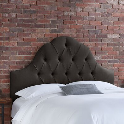 Skyline Furniture Arch Tufted Linen Headboard