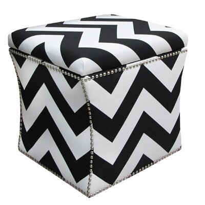 Skyline Furniture Zig Zag Fabric Cube Ottoman