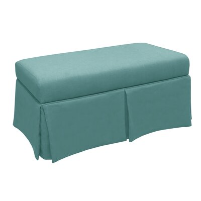 Skyline Furniture Linen Wood Skirted Storage Bench
