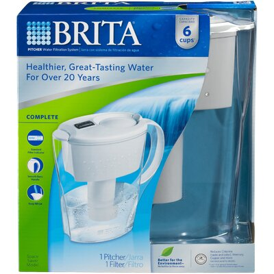 Brita Space Saver Water Filtration Pitcher