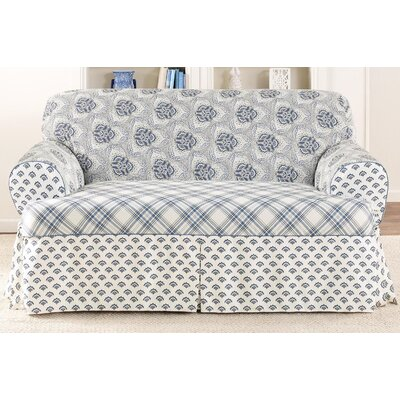 Sure-Fit Amelie Loveseat T-Cushion Slipcover